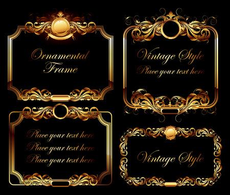 ornamental frames: set of ornamental frames Illustration