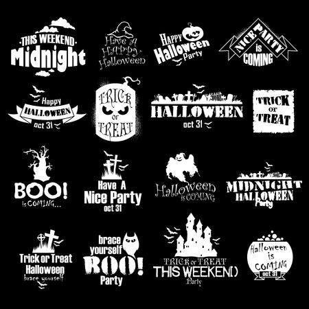 halloween icons Illustration