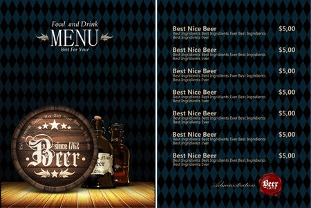 menu: beer menu Illustration
