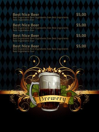 beverage: beer menu Illustration