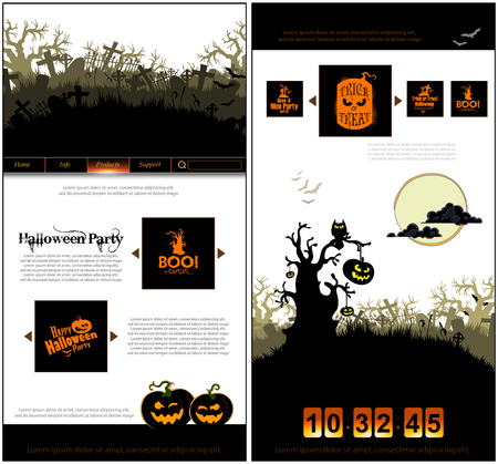 threatening: Halloween one page design template Illustration