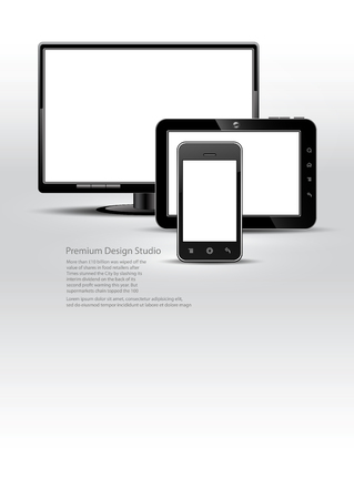 plasma monitor: digital devices Illustration