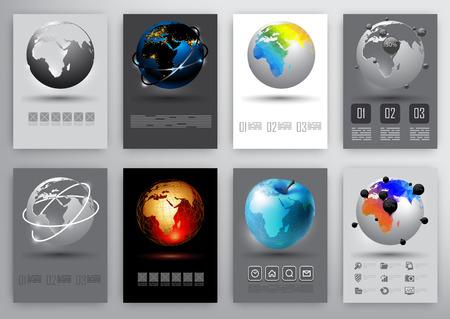 world globe: earth globe infographic
