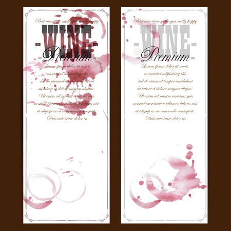 wine  shabby: set of wine labels Illustration