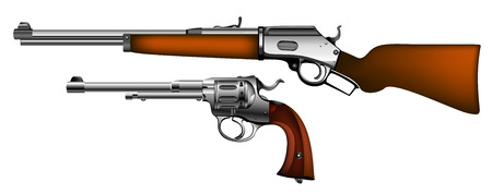 antic: old rifles and pistols
