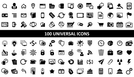 Hundred of universal icons