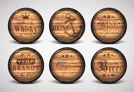 casks: set of covers casks