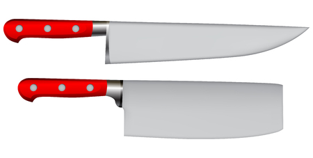meat knife: knife for cutting meat and a chefs knife