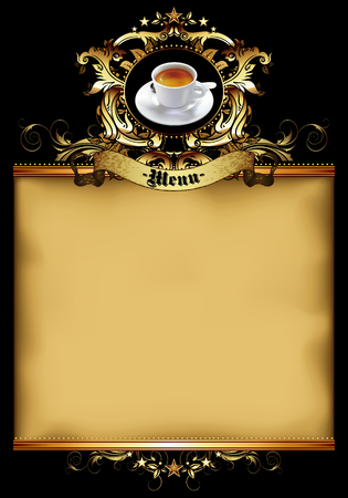 paper old: design template menu coffee shop on a old paper background