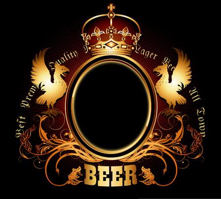 la conception d'étiquettes pour les vieilles sortes de bière