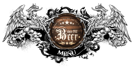 design template menu beer restaurant
