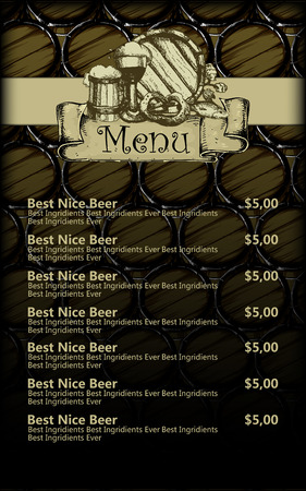 menu design with beer Vector Illustration