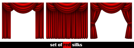 actors: three theater curtain decorated in different ways
