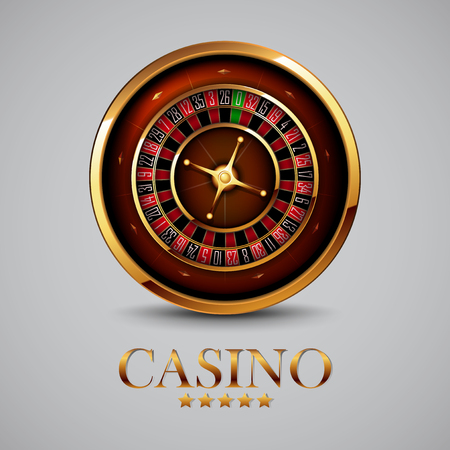 gambling game: casino advertising design with a tape measure on a gray background