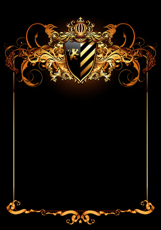 ornate frame: ornate frame with place for your text