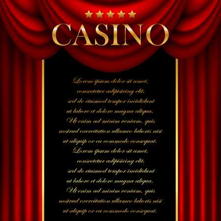 gambling game: Advertising a casino with a red curtain