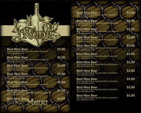 Design template menu beer restaurant