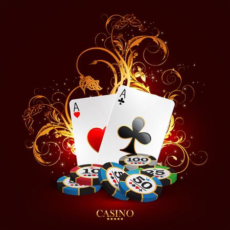 Casino-Design mit Spielkarten