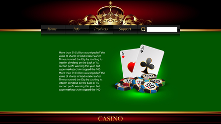casino advertising design with a playing cards