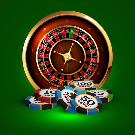 casino advertising design with a tape measure