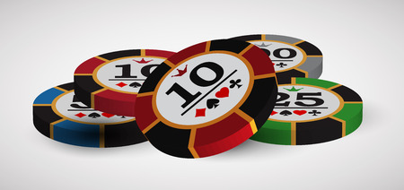 casino advertising design with a playing chips Illustration