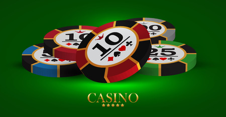 Casino advertising design with a playing chips