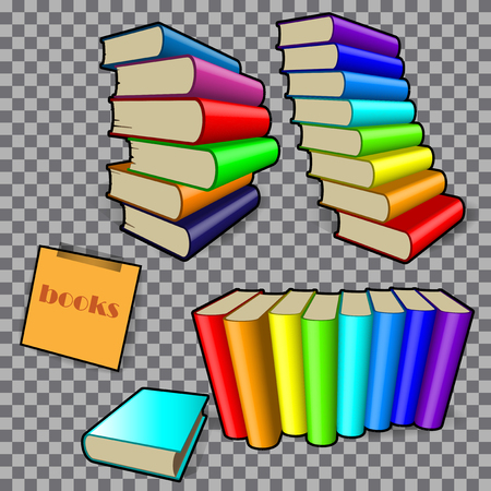 freehand drawing books in colored bindings on a checkered background
