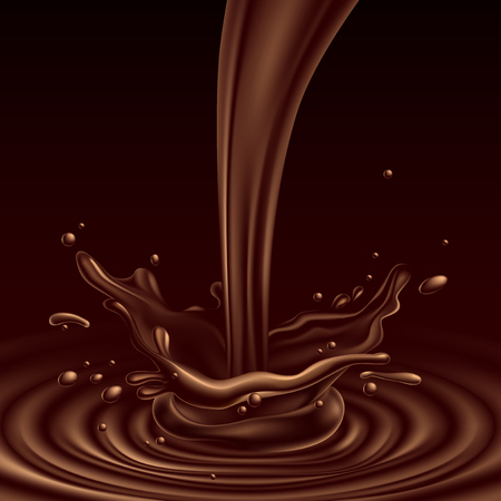 초콜릿 얼룩 효과, 높은 상세한 현실적인 그림와 추상적 인 배경