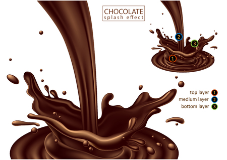 Chocolate advertising design,  high detailed realistic illustration
