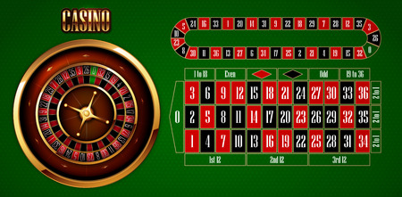 Casino advertising design with a tape measure and other elements on a green background.  3D vector. High detailed realistic illustration.