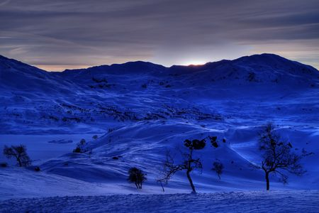 Winter landscape in the Norwegian mountains Stock Photo - 6442285