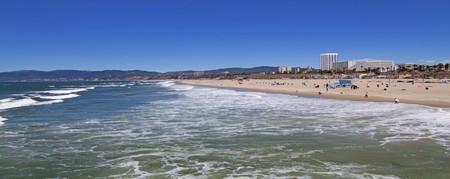 los: Santa Monica beach, Los Angeles, California Stock Photo