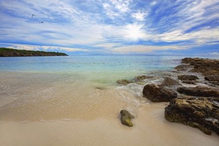 Beautiful landscape on the caribbean island, Curacao Stock Photo