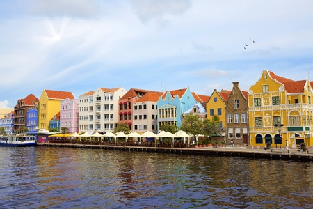 The Punda side of Willemstad city, Curacao Stock Photo