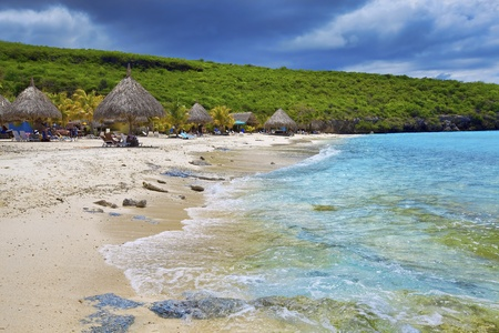 Beautiful landscape on the caribbean island, Curacao Stock Photo