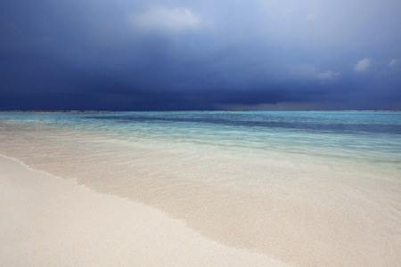 Stormy weathers coming in on the caribbean island, Aruba photo