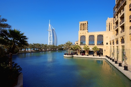 DUBAI, UNITED ARAB EMIRATES - FEBRUARY 18: The sail shaped Burj al Arab Hotel taken February 18 , 2011 in Dubai. The hotel is classed as a luxury hotel, and is the second tallest hotel in the world.