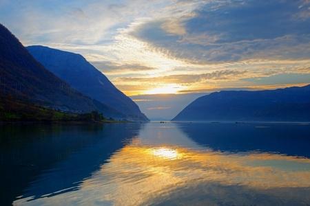 hardanger: Sunset at Hardanger