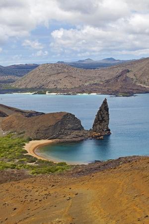bartolome: View of the pinnacle on Bartolome, Galapagos