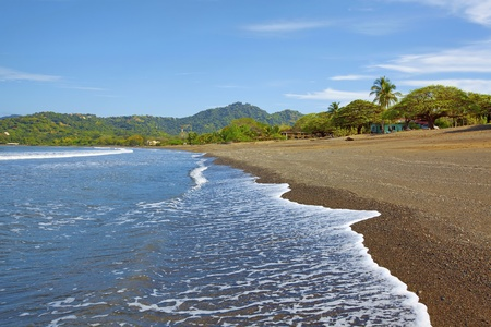 Waves coming in on the beach in Guanacaste Stock Photo