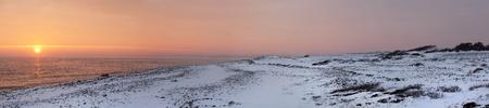 Sunset in wintertime at the Norwegian coast, Moelen Stock Photo - 12442380