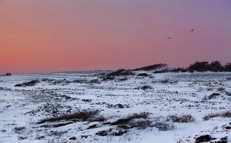Sunset in wintertime at the Norwegian coast, Moelen Stock Photo - 12442379