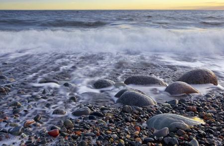 Sunset in wintertime at the Norwegian coast, Moelen Stock Photo - 12786256