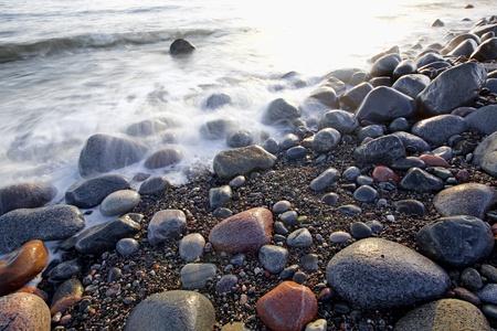 Sunset in wintertime at the Norwegian coast, Moelen Stock Photo - 12786284