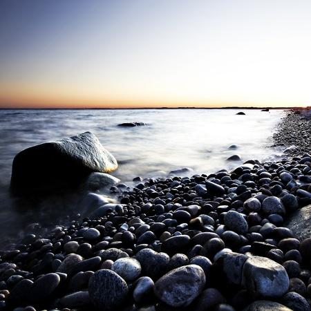Sunset in spring at the Norwegian coast, Moelen Stock Photo - 12932673