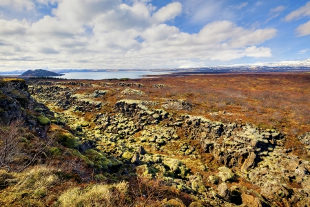 rift: Thingvellir national park is the site of a rift valley that marks the crest of the Mid-Atlantic Ridge