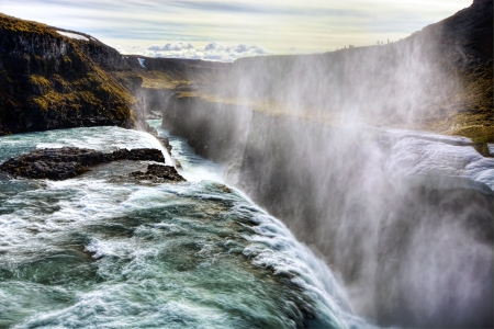 Gullfoss Waterfall on a sunny day in Iceland Stock Photo - 13721143