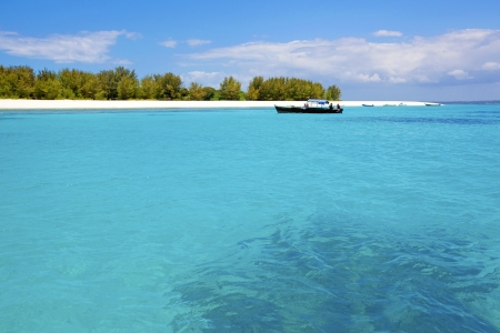 Crystal clear waters at Zanzibar beach in Tanzania