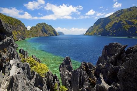 palawan: Untouched nature in El Nido, Palawan, Philippines Stock Photo
