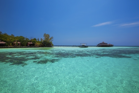 Lankayan island resort at daytime in Borneo, Malaysia photo